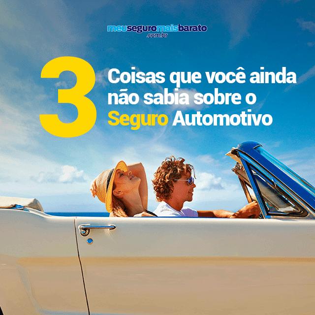 3 coisas que você ainda não sabia sobre o seguro automotivo