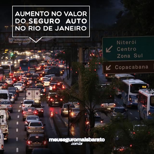 Aumento nos seguros pela insegurança no Rio de Janeiro