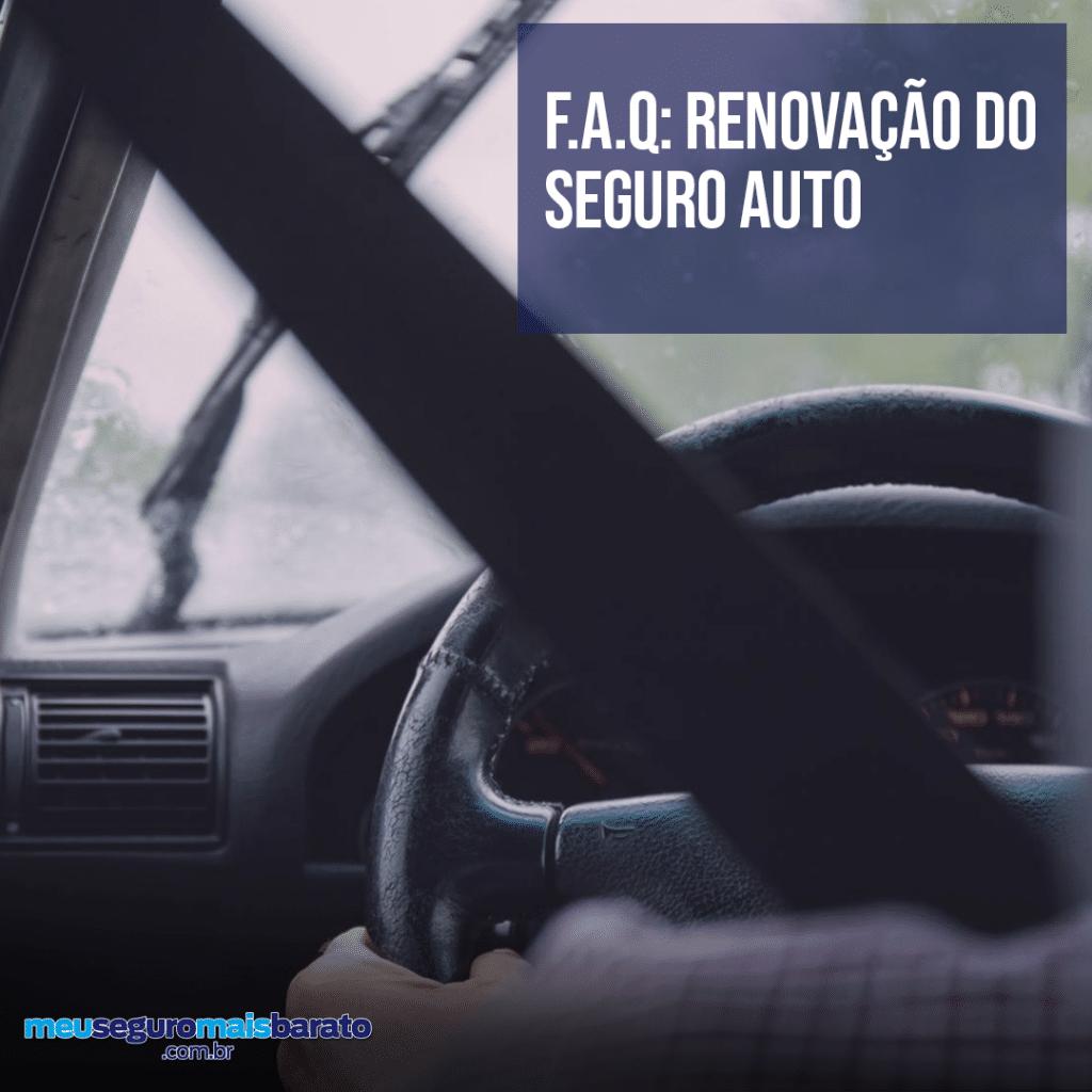 Dúvidas sobre a renovação do seguro auto