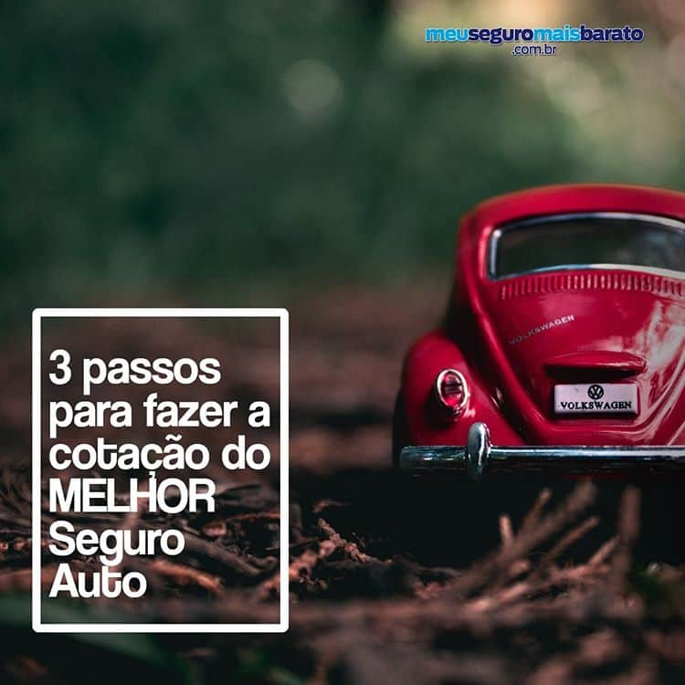 3 Passos para fazer a cotação do melhor seguro auto